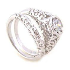 Dámské stříbrné prsteny Silvego souprava r0159 velikost 54
