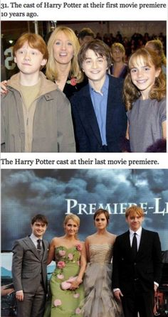 Harry Potter then and now!