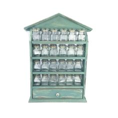 GORGEOUS SPICE RACK With 24 Spice Jars Beach by ShabbyShores