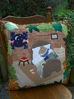 Handmade Cushion 'Mrs Mouse's Bedtime' by Bumble Designs www.folksy.com/shops/BumbleBearsandDesigns