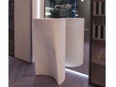 Freestanding natural stone washbasin RILIEVO by Antonio Lupi Design