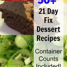 50+ 21 Day Fix Desserts