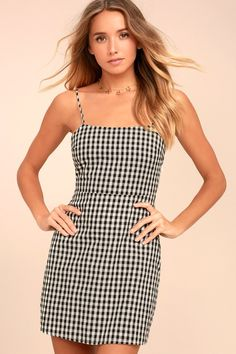 217633e477f 38 Best Nascar Checkered Gingham Black White Dresses images