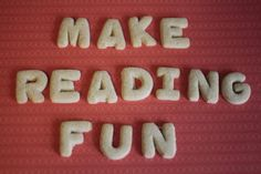 Flexible Dreams: Reading Is FUNandcrunchy with alphabet shaped cookies!