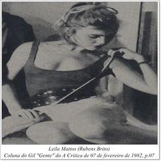"""Leila Mattos. Coluna do Gil """"Gente"""" do A Crítica de 07 de fevereiro de 1982."""