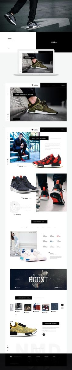 Adidas Website Concept - Behance #ui #ux #userexperience #website #webdesign #design
