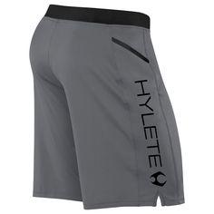 HYLETE - vertex zip pocket short - gun metal/black