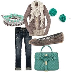 purs, color combos, blue, accessori, bag, flat, fall outfits, color combinations, shoe