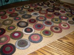 ~ The Makings of a Penny Rug ~ by Colleen MacKinnon....This is something I'm looking forward to making....