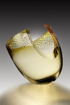 *art, modern design, glass, vases* - Mark Sudduth | Canted form