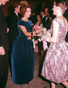 London England Princess Margaret is pictured at the Canadian Universities Ball at Quaglino's