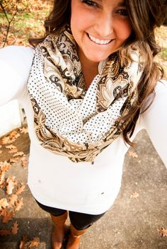 paisley scarf!