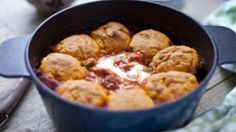 Beef skirt goulash with paprika dumplings