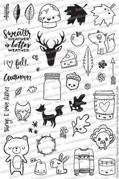Fall Planner Doodles - Planner Stamp Set                                                                                                                                                                                 More