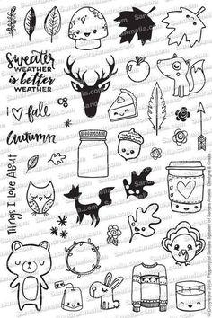Fall Planner Doodles - Planner Stamp Set