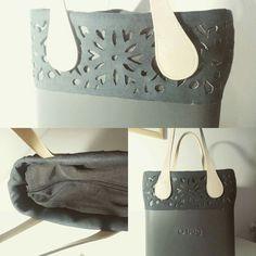 O bag o chic suede handmade trim