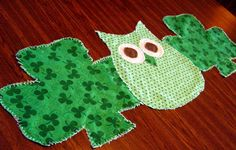 Hey, I found this really awesome Etsy listing at http://www.etsy.com/listing/125497022/green-owl-table-runner-st-patricks-day