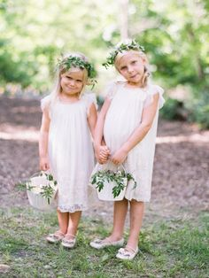 Flower girl dresses from Zara Kids | Intimate and Eclectic Real Wedding