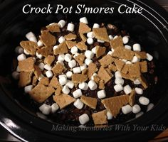 Crock Pot S'mores Cake - Slow Cooker This is delicious!  So moist and so easy to make!