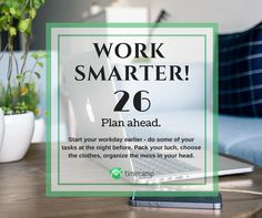 Work Smarter! #WorkSmarter Tracking App, Tracking Software, Letter Board, Insight, Organization, How To Plan, Getting Organized, Organisation