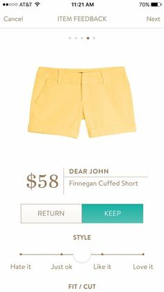 #stitchfix @stitchfix stitch fix https://www.stitchfix.com/referral/3590654 The Yellow! So gorgeous with my tan summer legs!!!