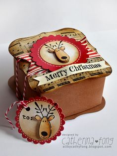 Merry Christmas gift box and mini tag 01 by cathy.fong, via Flickr