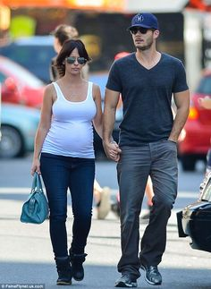 Exciting times: Jennifer is engaged to her Client List co-star Brian Hallisay, pictured together in NYC in August