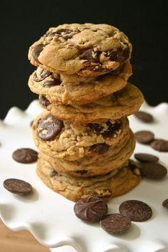 Bakergirl: Brown Butter Bourbon Chocolate Chip Cookies.
