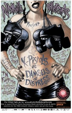 My work and other roller derby art. If any of these works belong to you and you would like to be credited, please let me know -- I would be happy to do so. My Art Bout Posters