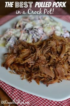 The Best Pulled Pork in a Crock Pot from 100 Days of #RealFood #crockpot