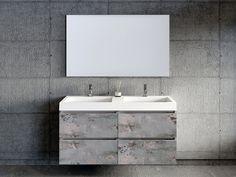 Primabad badkamermeubel   De badkamertrend van nu is Back to Nature. Terug naar de basis en haal de natuur naar binnen! In de badkamer doe je dit door natuurlijke kleuren en materialen, zoals hout, steen en beton te gebruiken. Denk daarnaast ook aan  waterbesparende en milieuvriendelijke douches! Toilet, Vanity, Bathroom, Nature, Dressing Tables, Washroom, Flush Toilet, Powder Room, Vanity Set