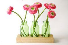 Blumenvase - Milchkanne // Vase by blumen-wiese via DaWanda.com