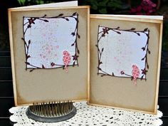 Bits of Life, Scrapbooking and Cooking: Memory Box Cards
