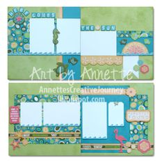 Footloose layouts by Annette Green