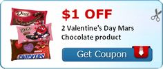 $1.00 off 2 Valentine's Day Mars Chocolate product