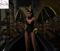 Virtual NightMare Styling: Virtual Diva Maleficent Couture Gown