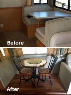 Table And Chairs To Replace Dining Booth In Rv Rvs Campers