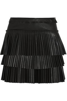 89968c4441967 Isabel Marant - Jeneth pleated leather mini skirt