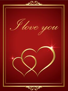 Elegant Golden Heart Love Greeting Card