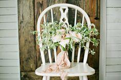 peach wedding bouquet - photo by Lindsey Orton Photography http://ruffledblog.com/romantic-bridal-inspiration-shoot