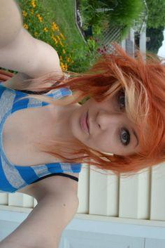 scruffy orange and blonde curls, short, cute