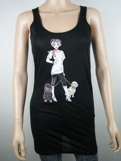 "Alice Brands new ""Alice with Cocker Spaniels"" is one of a large range of women's tops featuring Dog Breeds for those who love their dogs. See them all on: www.etsy.com/shop/AliceBrands. www.alicebrands.co.uk."