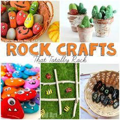 Rock Crafts for Kids that Rock - Easy Peasy and Fun Arts And Crafts For Teens, Crafts For Seniors, Diy For Kids, Crafts For Kids, River Rock Crafts, Painted Rocks Craft, Senior Gifts, Classroom Crafts, Healthy Recipes