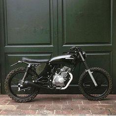 Instagram media by imperialmoto - Low, lean, mean. Killer Honda custom named 'Nancy' courtesy of @cocosarr. Thanks…