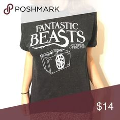 Super Soft Fantastic Beasts T Shirt Fantastic Beasts and Where to Find Them Tee with Newt's famous suitcase. Super soft!! Hot Topic Tops Tees - Short Sleeve