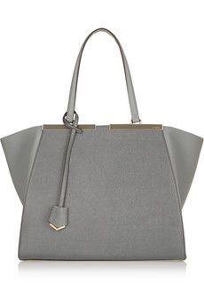 Fendi 3Jours medium textured-leather shopper   NET-A-PORTER