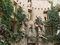 Dali Museum Courtyard in Figueres, Catalonia, Spain
