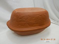 GOURMET TOPF TERRA COTTA/CLAY BAKEWARE! #212! MADE IN THE U.S.A.! 1977! AS IS!