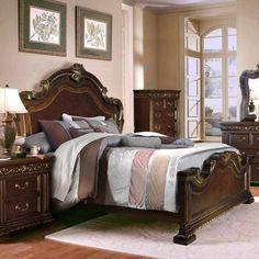 McFerran Home Furnishings   B538 California King Bed In Brown  B538 CK