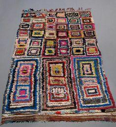 vintage boucheroite rag rug www larusi com
